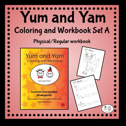 Yum-and-Yam-Coloring-and-Workbook-Set-A-Physical-Regular-books